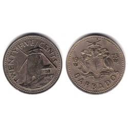 (13) Barbados. 1973. 25 Cents (SC)