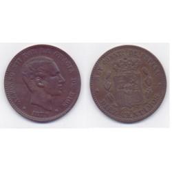 Alfonso XII. 1879. 10 Céntimos (MBC) Ceca de Barcelona OM