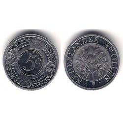 (33) Antillas Neerlandesas. 1996. 5 Cents (SC)