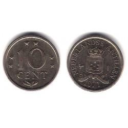 (10) Antillas Neerlandesas. 1971. 10 Cents (BC)