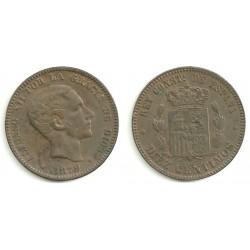 Alfonso XII. 1879. 10 Céntimos (EBC) Ceca de Barcelona OM