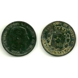 Alfonso XII. 1879. 5 Céntimos (BC) Ceca de Barcelona OM