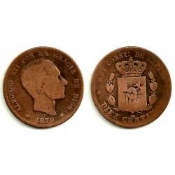 Alfonso XII. 1879. 10 Céntimos (RC) Ceca de Barcelona OM