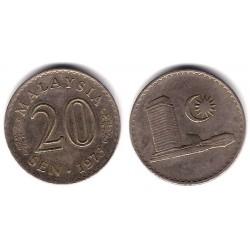 (4) Malasia. 1973. 20 Sen (MBC)