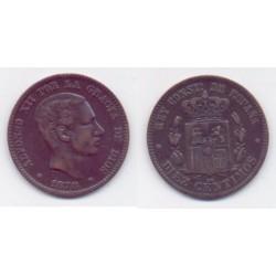 Alfonso XII. 1878. 10 Céntimos (EBC) Ceca de Barcelona OM