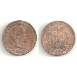 Alfonso XII. 1878. 5 Céntimos (BC) Ceca de Barcelona OM