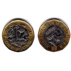 Gran Bretaña. 2017. 1 Pound (EBC)