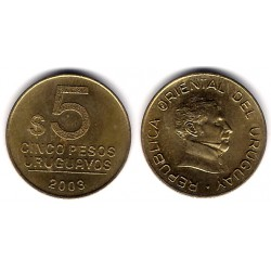 (120.1) Uruguay. 2003. 5 Pesos (SC)
