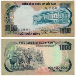 (34) Vietnam del Sur. 1972. 1000 Dong (EBC+)