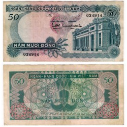 (25a) Vietnam del Sur. 1969. 50 Dong (MBC)