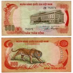(33) Vietnam del Sur. 1972. 500 Dong (MBC-)