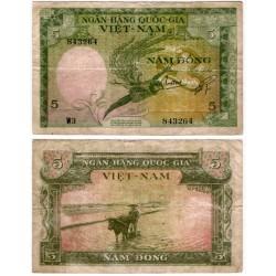 (2a) Vietnam del Sur. 1955. 5 Dong (RC+)