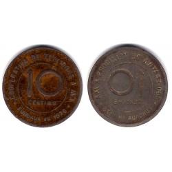 Cooperativa de Teixidors. Incusa. 10 Céntimos (BC-)