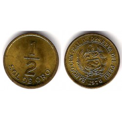 (265) Perú. 1976. ½ Sol de Oro (SC)