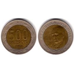 (235) Chile. 2003. 500 Pesos (MBC-)
