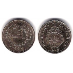 (184.2) Costa Rica. 1976. 5 Céntimos (MBC)