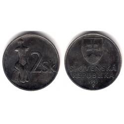 (13) Eslovaquia. 1993. 2 Koruna (EBC)