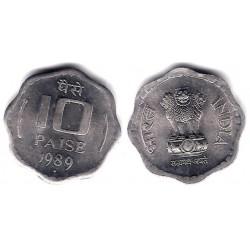 (39) India. 1989. 10 Paise (SC)