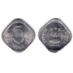(23) India. 1987. 5 Paise (SC)