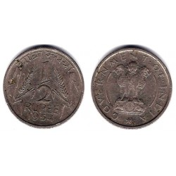 (6.2) India. 1954. ½ Rupee (MBC)