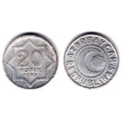 (3) Azerbaiyán. 1993. 20 Qapik (MBC)