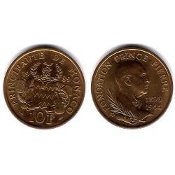 (162) Mónaco. 1989. 10 Francs (SC)