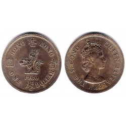 (31.1) Hong Kong. 1960. 1 Dollar (EBC)