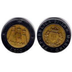 (209) San Marino. 1987. 500 Lira (MBC)