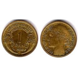(855) Francia. 1939. 1 Franc (MBC+)