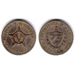 (11.1) Cuba. 1915. 5 Centavos (BC)