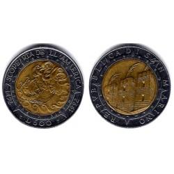 (286) San Marino. 1992. 500 Lira (EBC)