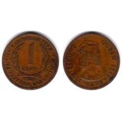 (2) Estados Orientales Caribeños. 1958. 1 Cent (MBC-)