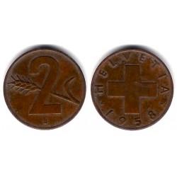 (47) Suiza. 1958(B). 2 Rappen (BC)