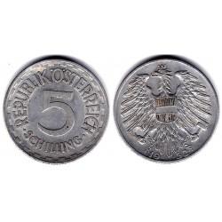 (2879) Austria. 1952. 5 Schilling (MBC)