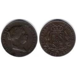 Isabel II. 1859. 25 Céntimos de Real (MBC+) Ceca de Segovia