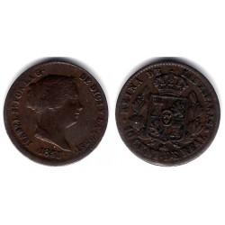 Isabel II. 1855. 10 Céntimos de Real (MBC) Ceca de Segovia