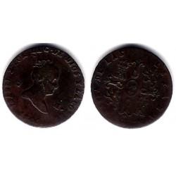 Isabel II. 1845. 2 Maravedi (BC) Ceca de Segovia