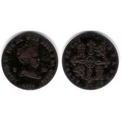 Isabel II. 1858. 2 Maravedi (BC) Ceca de Barcelona