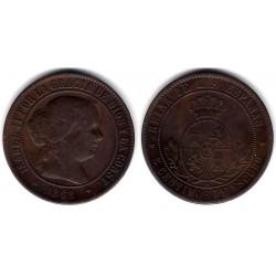 Isabel II. 1868. 5 Céntimos de Escudo (MBC+) Ceca de Jubia OM