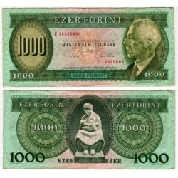(176b) Hungria. 1993. 1000 Forint (BC) Peq. rotura margen dcho