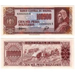 (171a) Bolivia. 1984. 100000 Pesos Bolivianos (SC)