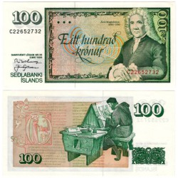 (54a) Islandia. 1986. 100 Kronur (SC)