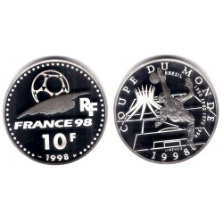 (1162) Francia. 1998. 10 Francs (Proof) (Plata)