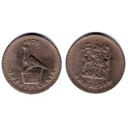 (15) Rhodesia. 1975. 20 Cents (MBC)