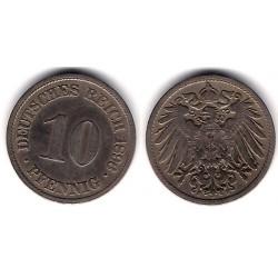 (12) Imperio Alemán. 1896(F). 10 Pfenning (MBC)