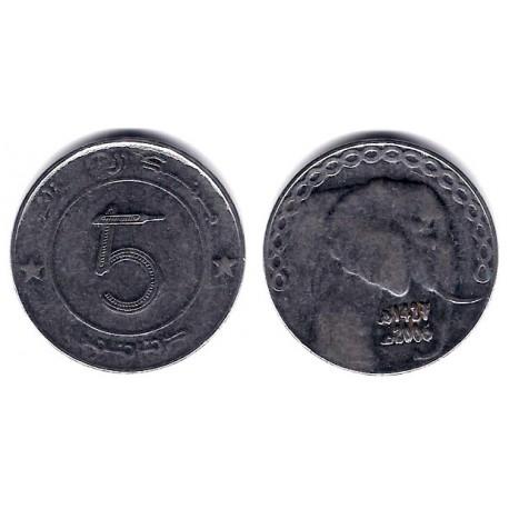 (123) Algeria. 2006. 5 Dinars (EBC-)