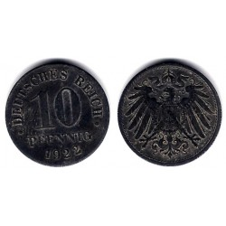 (26) Imperio Alemán. 1922. 10 Pfennig (MBC)