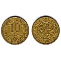 (22) Paraguay. 1947. 10 Céntimos (MBC-)