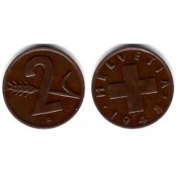 (47) Suiza. 1948(B). 2 Rappen (MBC)