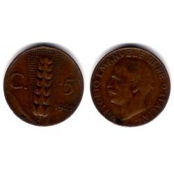 (59) Italia. 1922R. 5 Centesimi (MBC+)